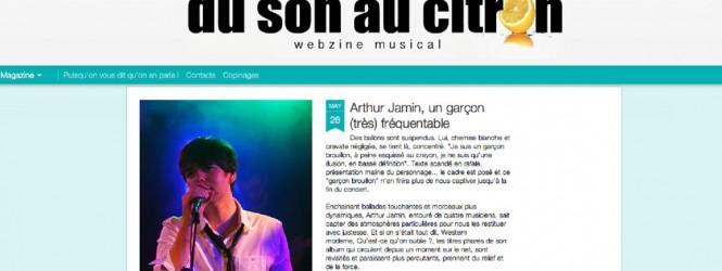 Chronique du concert sur le blog «Du son au citron»