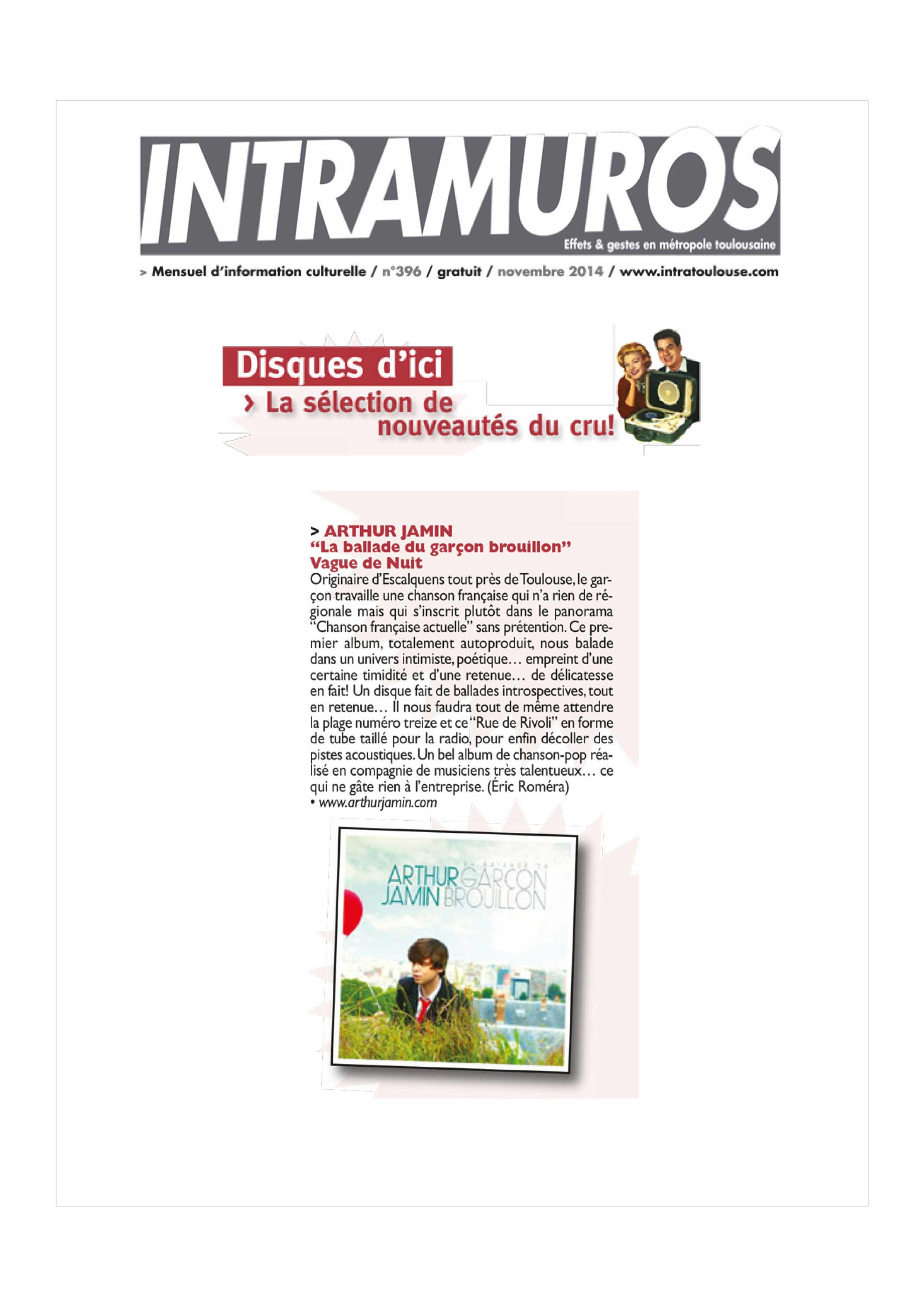 INTRAMUROS- Arthur Jamin