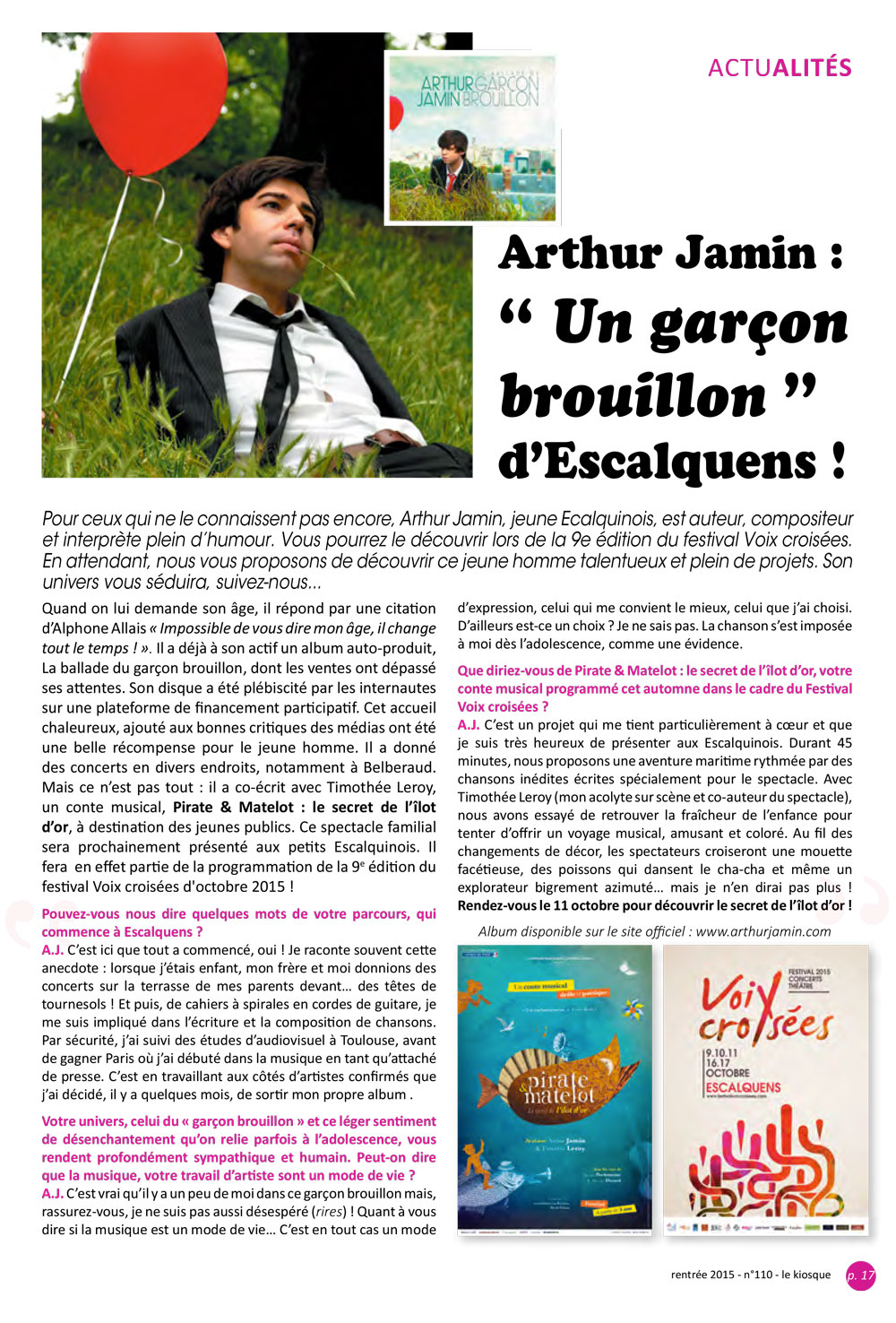 Arthur Jamin - Interview Le Kiosque